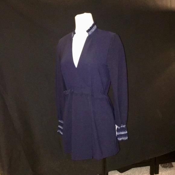 5e2850358e7 NEW Zara navy blue jumper!Long sleeve with shorts. NWT